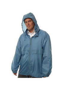 Totes TMP500 Men's Packable Rain Jacket Blue Large