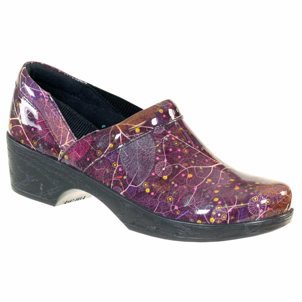 Klogs Polina Women's Woodland Purple Patent 8 M Clog Display Model Shoes