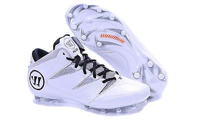 NEROWT BY WARRIOR WHITE GRAY ADULT MENS LACROSSE WHITE GRAY US MENS 8D