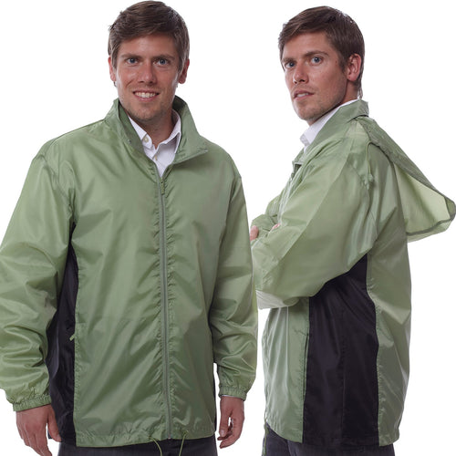 Totes TMP500 Men's Packable Rain Jacket Green 2XL