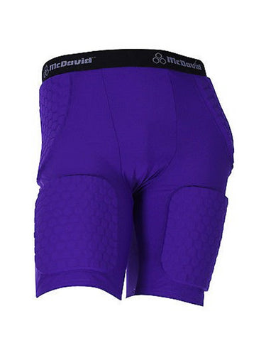 McDavid 757 Thudd Football Compression Shorts Purple-2XLarge