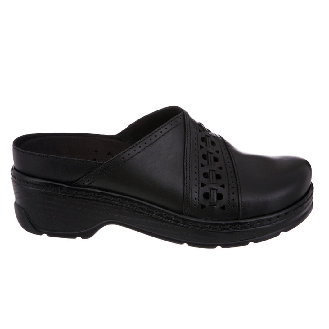 Klogs Shelby Women's Black Smooth 7 W Clog Display Model Shoes