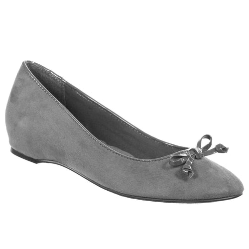 Soft Style Cahill Womens Wedge Style Shoes Display Model Grey Suede 8 M
