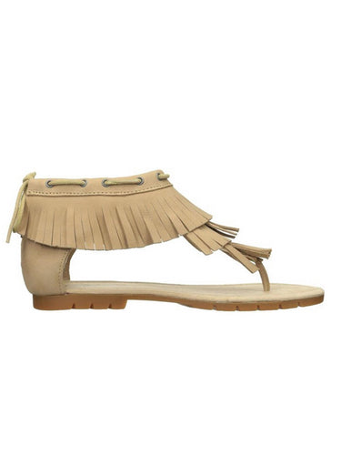 Cat by Caterpillar Jazmyne Women's Fringe Sandals Latte 6.5 M, EU 37.5