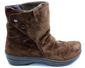 KLOGS WOMENS MONTE BOOTS CHOCOLATE SUEDE DISPLAY MODEL 8 M