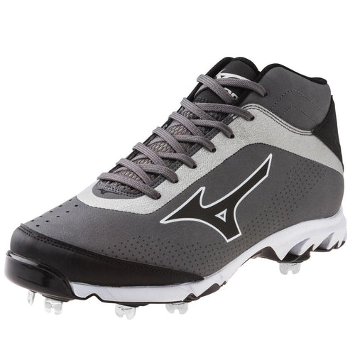 MIZUNO 9 SPIKE VAPOR ELITE 7 MID GR/BLK MENS METAL BASEBALL CLEATS DISPLAY MODEL 12 M