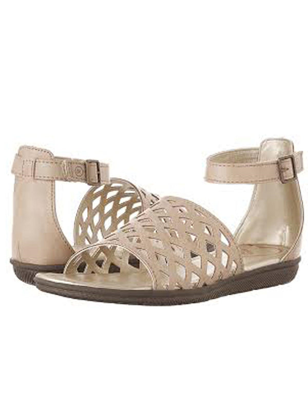 Stride Rite Girls' Perla Gladiator Sandal, Light Brown, Little Kid 12 M