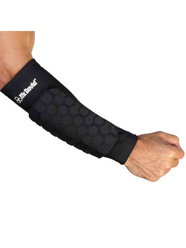 McDavid Classic Logo 651DD CL Hex Dual-Density Forearm Sleeves - Black - X-Large