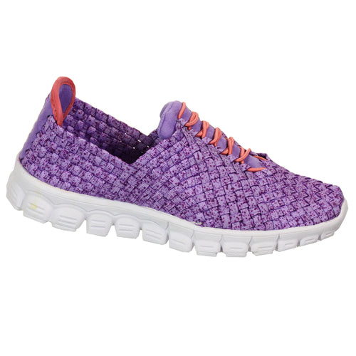 Zee Alexis Women's Danielle Woven Athletic Shoe Purple Speckle EU 39 US 8