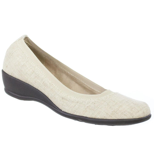 Soft Style Rogan Womens Wedge Style Shoes Display Model Natural Linen 8 M