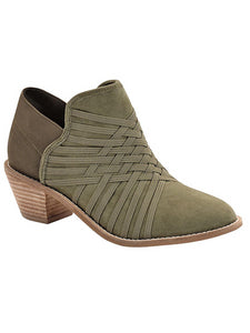 Zee Alexis Womens Molly Ankle Boots Olive 6 M
