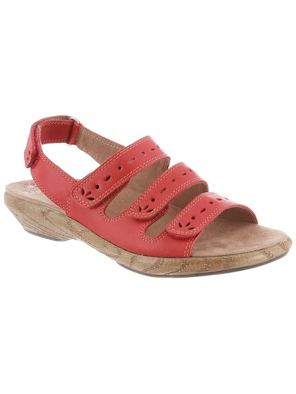 Lacie By Klogs Hunter Red Womens Leather Sandals 9 M