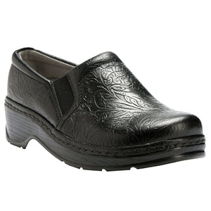 Klogs Natalie Women's Black Tooled 9 W Clog Display Model Shoes