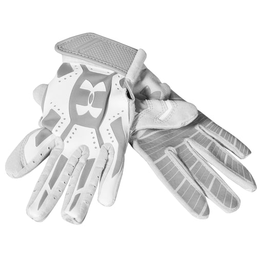 UNDER ARMOUR BOYS MOTIVE BATTING GLOVE DISPLAY MODEL GREY WHITE YOUTH SMALL