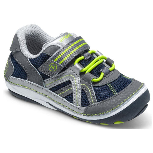 Stride Rite SRT SM Damien Sneaker Shoes (Infant) Navy Grey 3.5 XW