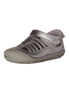 Stride Rite Soft Motion Penelope Sandal (Infant, Toddler) Silver 6 M