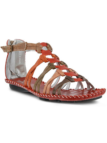 Sheldony By Spring Step Red Womens Leather Sandal 39 EU / 8.5 US Women