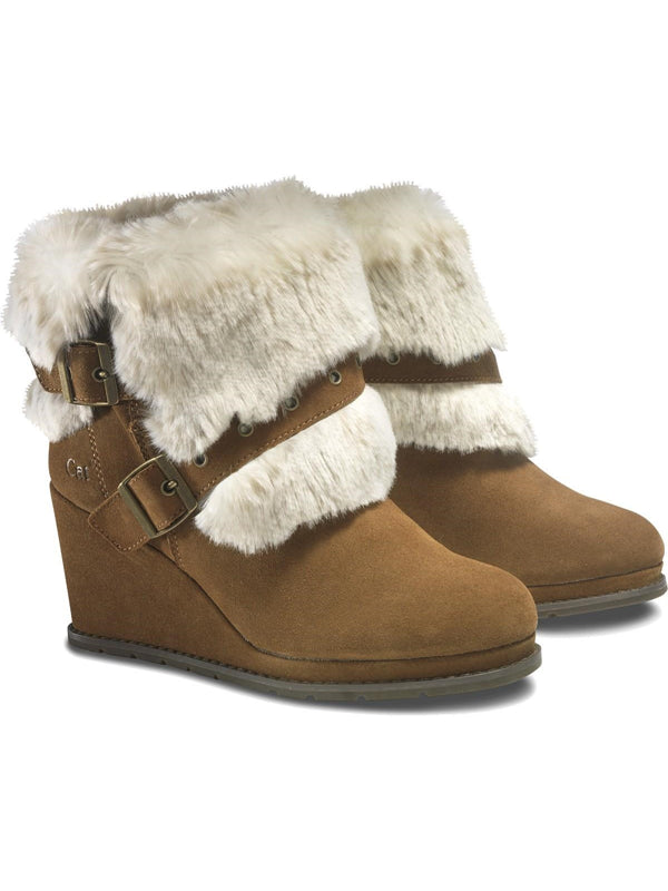 Cat By Caterpillar Boisterous Faux Fur Tobacco Womens Boots US 9.5 M, EU 40.5