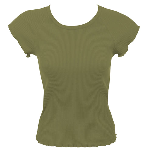 DONNA KARAN 362311 RIBBED SLEEP TEE SHIRT KEY LIME XL