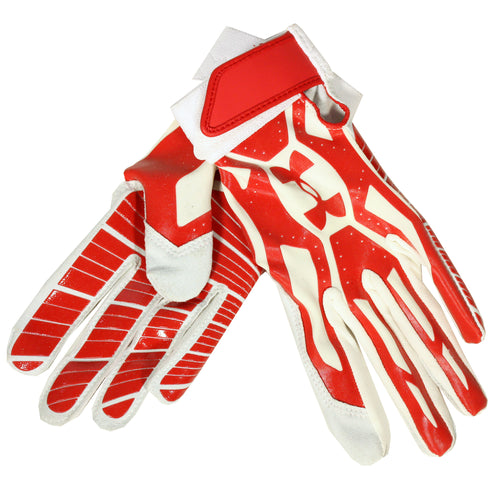 UNDER ARMOUR BOYS MOTIVE BATTING GLOVE DISPLAY MODEL RED WHITE YOUTH MEDIUM