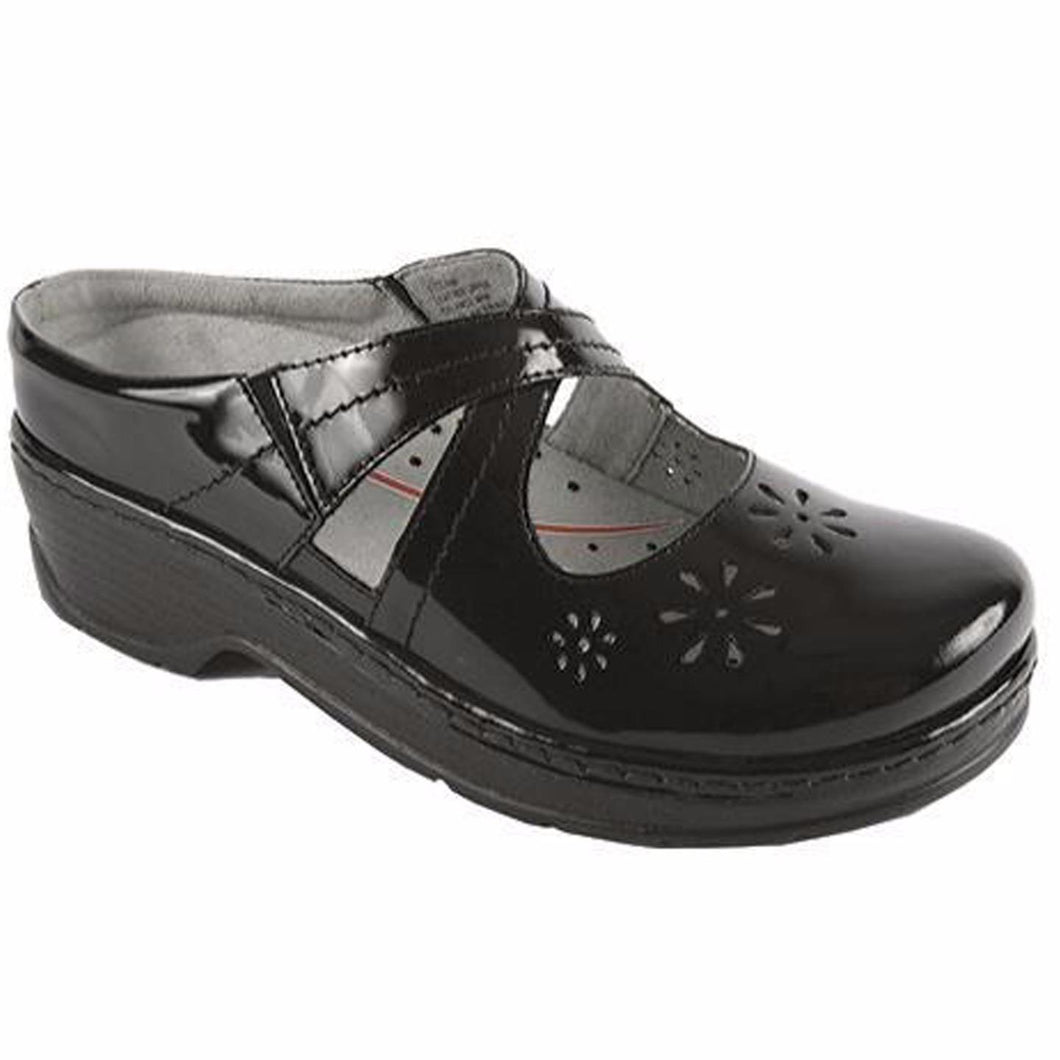 Klogs Camila Women's Black Patent 8 W Clog Display Model Shoes