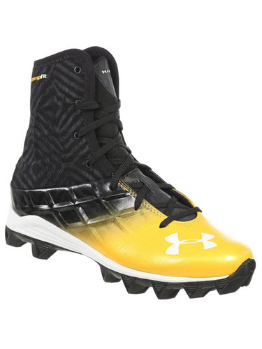 UNDER ARMOUR YOUTH HIGHLIGHT BOYS FOOTBALL SHOES RM BLACK GOLD 4.5Y