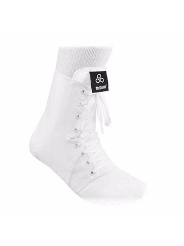 McDavid Classic Logo A101 CL Level 3 Ankle Brace / Lace-Up W/ Inserts - White - Small