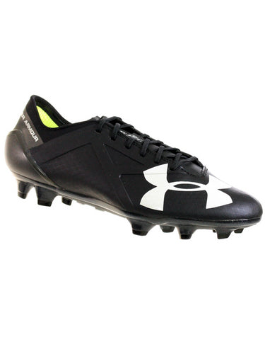UNDER ARMOUR MEN'S TEAM SPOTLIGHT FG SOCCER CLEATS BLACK GRAPHITE WHITE 9.5
