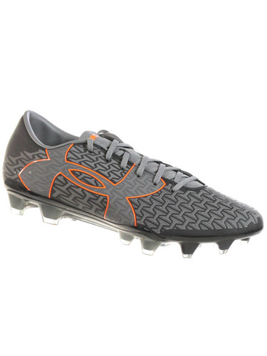 UNDER ARMOUR MEN'S CORESPEED FORCE 2.0 FG SOCCER CLEATS GRAPHITE BLACK ORANGE 10