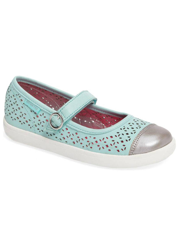 Stride Rite Poppy Mary Jane Shoe (Little Kid), Turquoise, 11 M