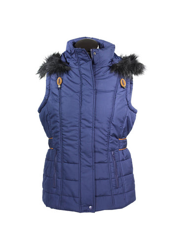 Totes Women's Insulated Hooded Vest Indigo Small