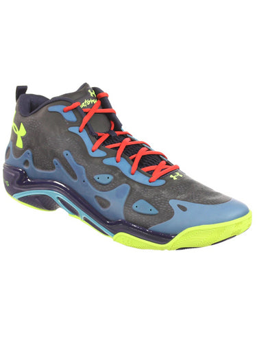 UNDER ARMOUR MENS ATHLETIC SHOES MICRO G SPAWN LOW 2 BLUE BLACK NAVY YELLOW 20 M