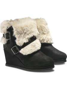 Cat By Caterpillar Boisterous Faux Fur Black Womens Boots US 9.5 M, EU 40.5