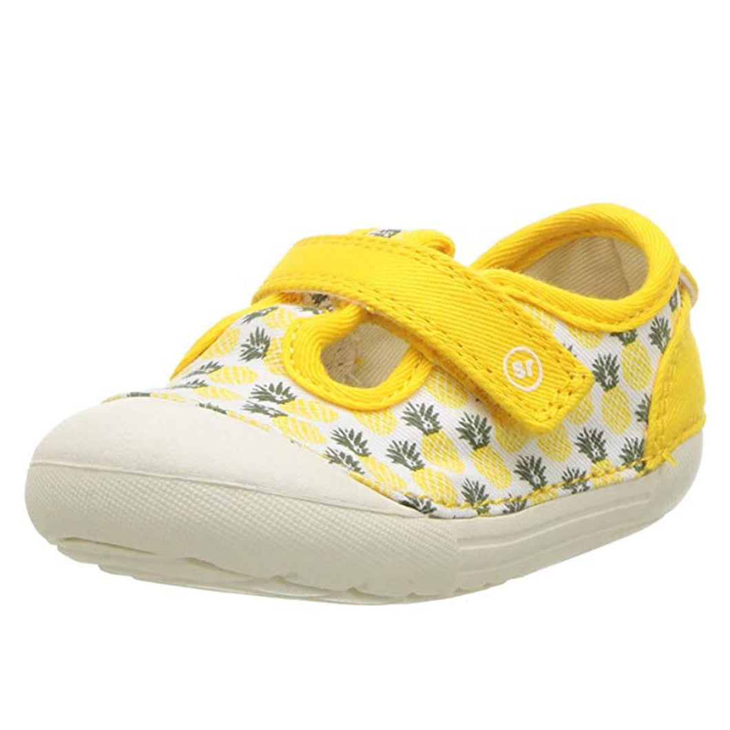 Stride Rite Hannah Girls Sneaker Shoes Yellow Pineapple 6 W