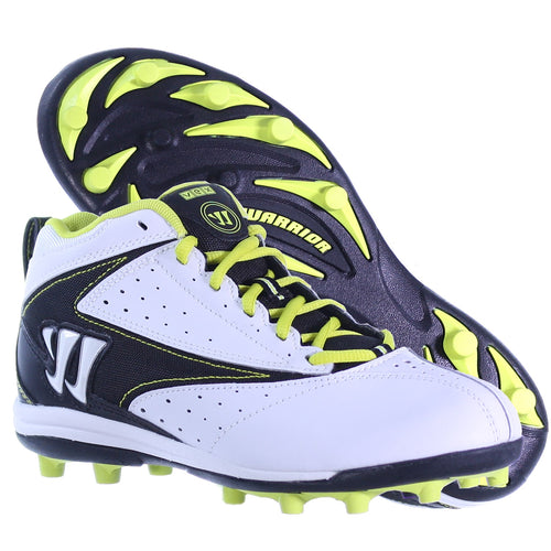 WARRIOR VEX LACROSSE MID HEIGHT MOLDED CLEATS WHITE DISPLAY MODEL JUNIOR 5