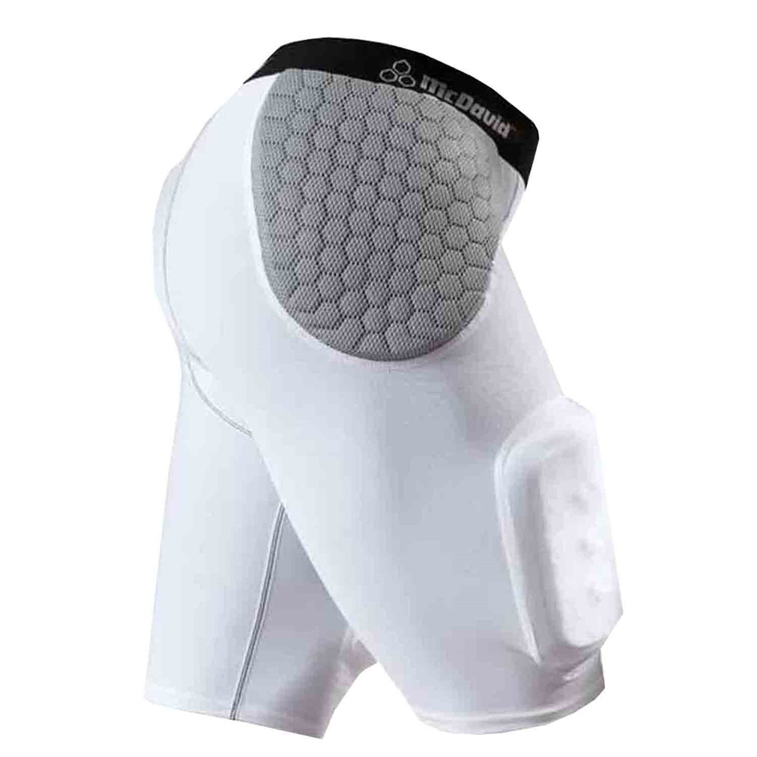 McDavid 7552 Y IR Hardshell Thigh Guard Girdle - White/Gray Youth Medium