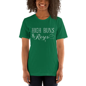 """High Buns & Roses"" T-Shirt Wht"