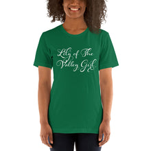 "Load image into Gallery viewer, ""Lily of The Valley Girl"" T-Shirt Wht"