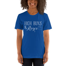"Load image into Gallery viewer, ""High Buns & Roses"" T-Shirt Wht"
