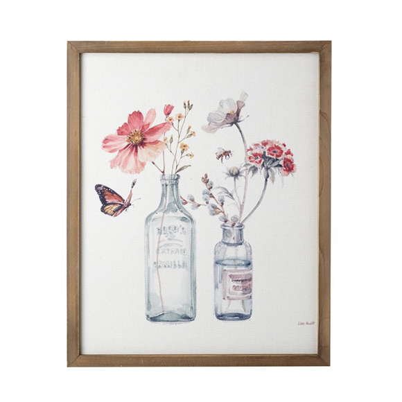 Flowers in Bottles Watercolour Picture