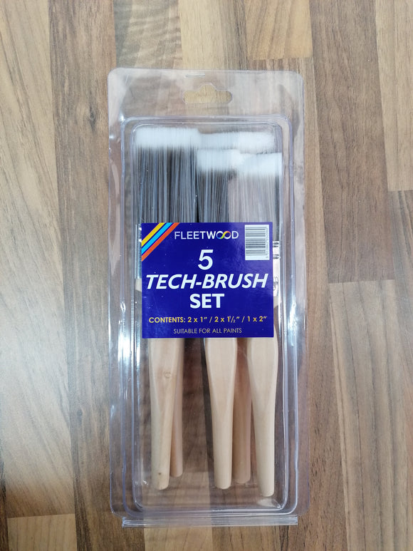 FLEETWOOD 5-PIECE TECH BRUSH SET