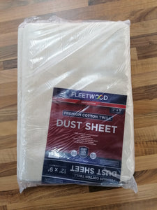 FLEETWOOD PREMIUM COTTON DUST SHEET HEAVY 12ft x 9ft