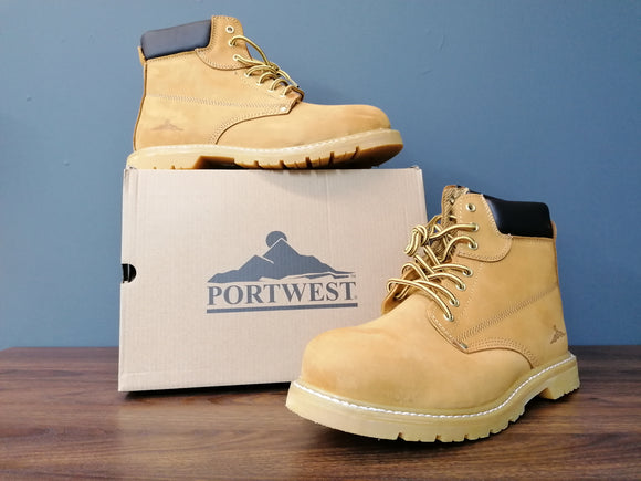 PORTWEST WELTED SAFETY BOOT HONEY (5 sizes available)