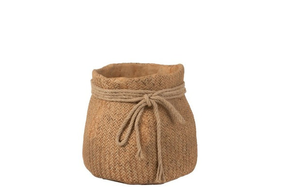 Flowerpot Jute Imitation Rope Cement Natural Medium