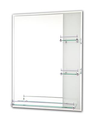 Tema Etched Mirror Rectangle With 3 Shelves 80x60cm