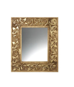 Gold Wooden Framed Mirror - Small