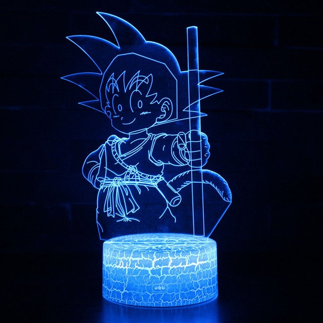 Lampe 3D Dragon Ball : Goku Enfant