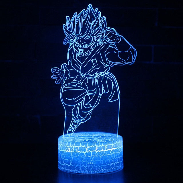 Lampe 3D Dragon Ball : Goku Super Saiyan Blue