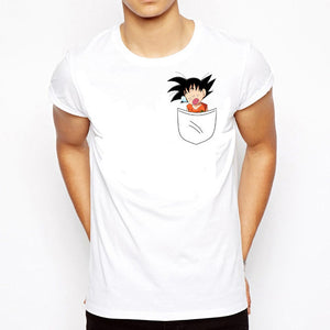 T-Shirt Goku Enfant Sort de la poche sur le cœur Dragon Ball