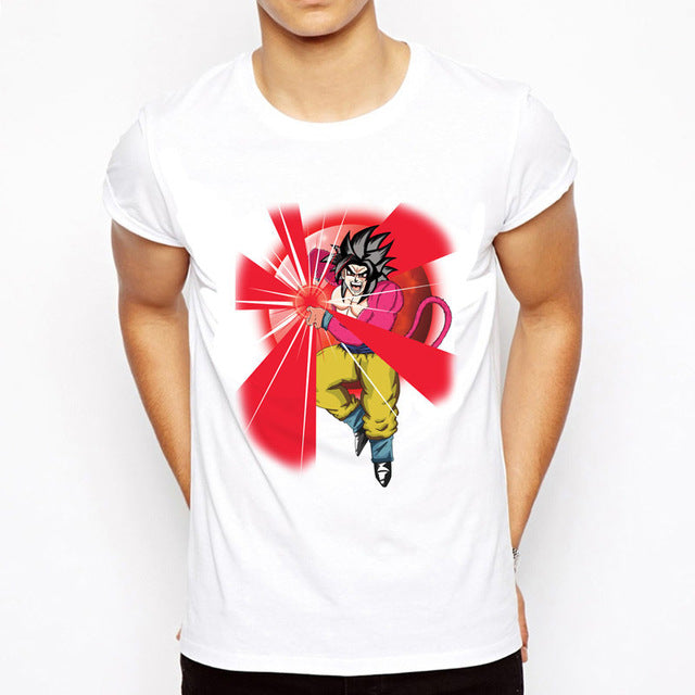 T-Shirt Goku Super Saiyan 4 Kaméhaméha Dragon Ball GT